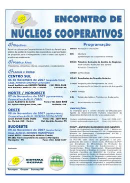 NÚCLEOS COOPERATIVOS