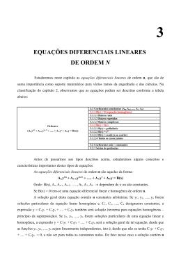 EQUAÇÕES DIFERENCIAIS LINEARES DE ORDEM N