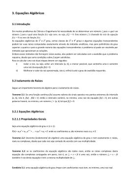 3. Equações Algébricas