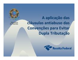 Cláusulas antiabuso nas Convenções para Evitar Dupla Tributação