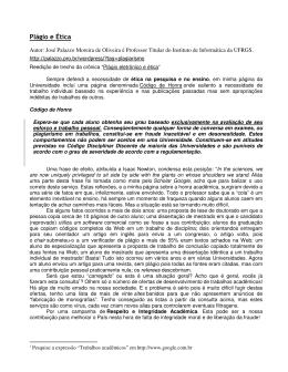 Plágio e Ética - DSCE