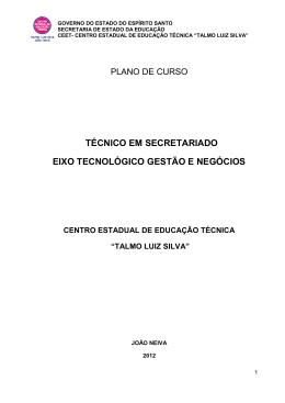 PLANO DE CURSO - CEET – Talmo Luiz Silva