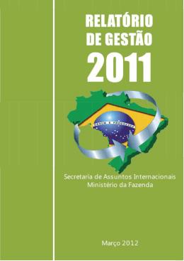 Relatório de Gestão - Ministério da Fazenda