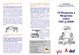 10 Perguntas e Respostas sobre HIV SIDA