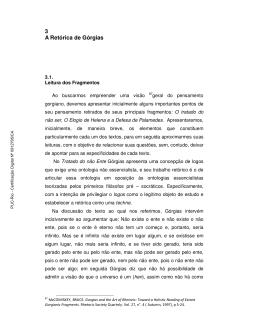 3 A Retórica de Górgias - Maxwell - PUC-Rio