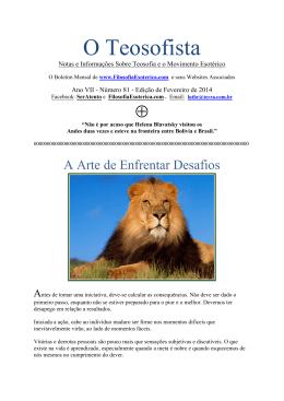 """""""O Teosofista"""" de Fevereiro, em PDF"""