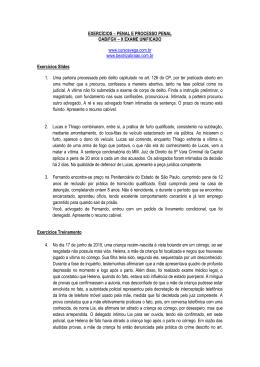 EXERCÍCIOS - Vega Cursos Jurídicos