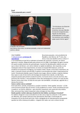 """Brasil """"Estou preparado para a morte"""" Andre Dusek/AE A batalha"""