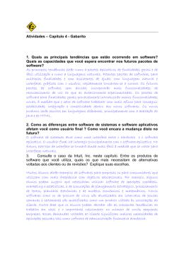 Capítulo 4 - Gabarito 1. Quais as principais tendências que estão
