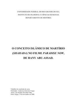 O CONCEITO ISLÂMICO DE MARTÍRIO (SHAHADA) NO FILME