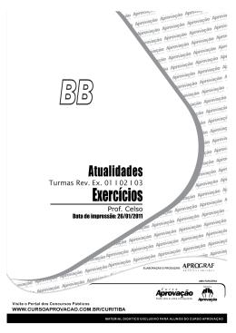 Exercícios - Curso Aprovação