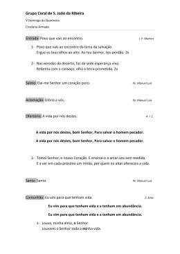 V Domingo da Quaresma - Paroquia de S. João da Ribeira