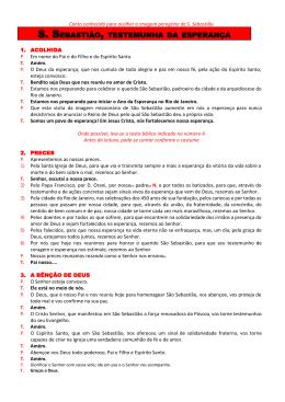 S. SEBASTIÃO, TESTEMUNHA DA ESPERANÇA