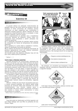 Lista de exercícios 3ºAno_Apostila 01 -Quimica II