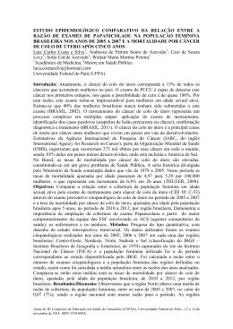 estudo epidemiológico comparativo da relação - COESA