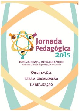 Orientações para a Organização da Jornada Pedagógica