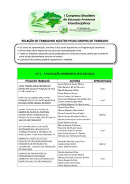 gt 1 - a educação ambiental nas escolas