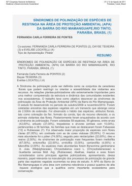 Resumo de Trabalho - Sociedade Botânica do Brasil