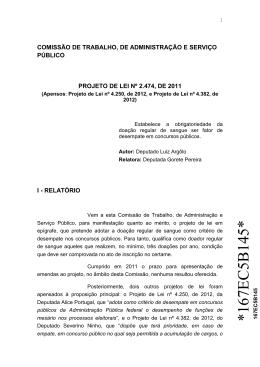 PL 2474/2011. Parecer pela aprovação com substitutivo. CTASP.