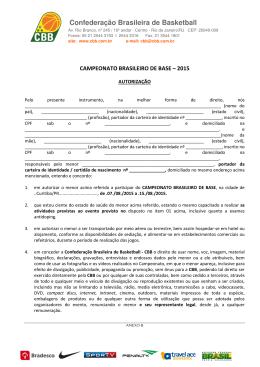 Formulário CBB - Federação Catarinense de Basketball