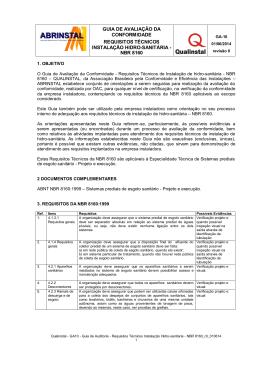 GA10 - Requisitos Técnicos Hidro-sanitária