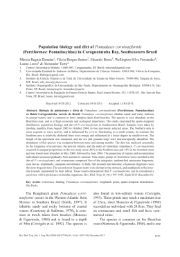 Population biology and diet of Pomadasys corvinaeformis