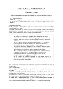 QUESTIONÁRIO DE RECUPERAÇÃO