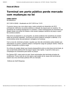 Terminal em porto público perde mercado com mudanças