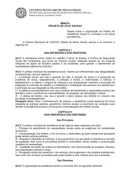 PROJETO DE LEI N - Secretaria de Estado de Trabalho e