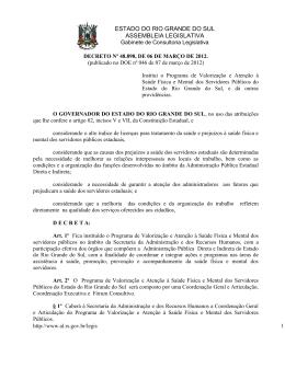 DECRETO Nº 47 - Assembléia Legislativa