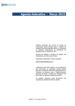 Agenda federativa - Março 2015