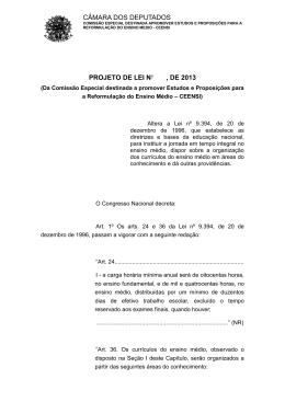 PL 6840/2013 - Câmara dos Deputados