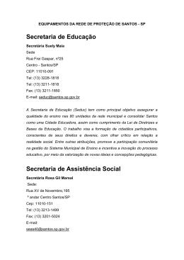 EQUIPAMENTOS DA REDE DE PROTEÇÃO DE SANTOS - SP