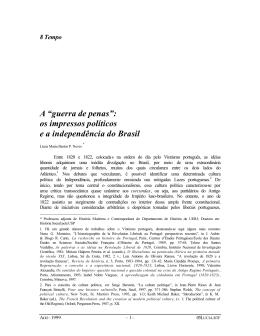"""A """"guerra de penas"""": os impressos políticos e a"""