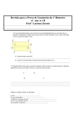 Revisão para a Prova de Geometria do 1º Bimestre 6º ano