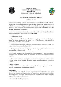 Estado de Goiás Secretaria de Segurança Pública Polícia Civil
