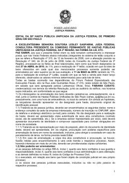 50ª Hasta Pública Unificada - Edital -