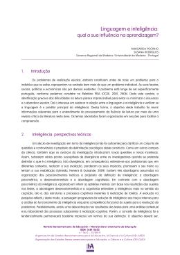 Linguagem e inteligência: - Revista Iberoamericana de Educación