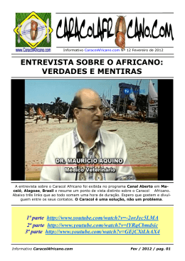entrevista sobre o africano