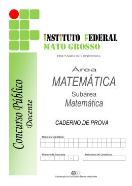 MATEMÁTICA/Matemática