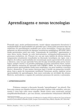 Aprendizagens e novas tecnologias