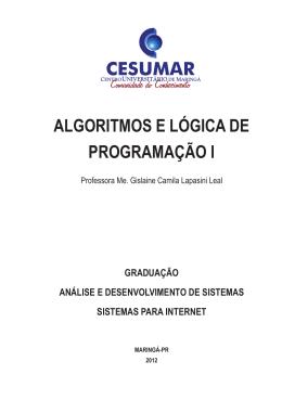 algoritmos e lógica de programação i