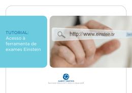 acesso à ferramenta de exames Einstein