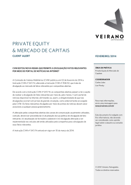 PRIVATE EQUITY & MERCADO DE CAPITAIS