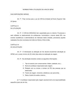 Normas para a utilização da VAN