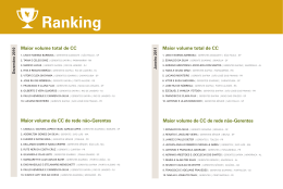 Ranking Dez 2010 - Jan 2011