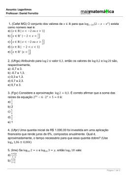 Logaritmos - Hospedagemdesites.Ws