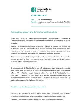 COMUNICADO - Infraestruturas de Portugal