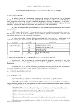 ANEXO I – RESOLUÇÃO Nº 43/PGJ