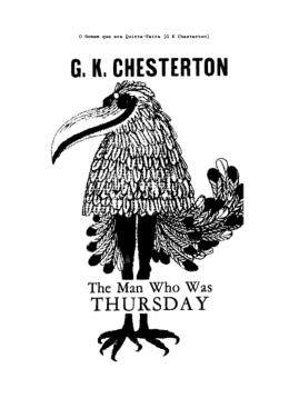 O Homem que era Quinta-Feira [G K Chesterton]